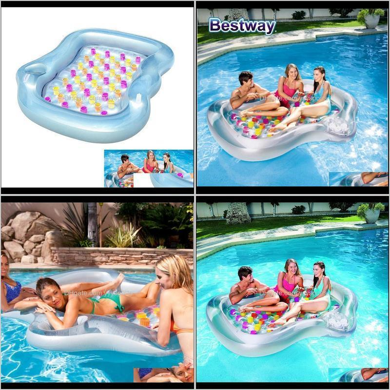 double designer lounge inflatable pool float floating air cushion thickening novelty swimming pool float rafts pvc floating bed