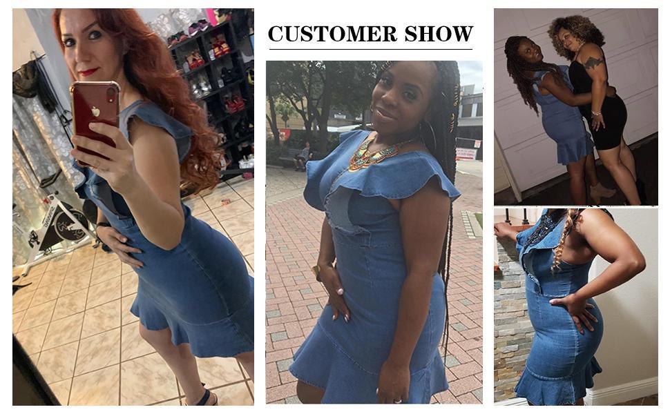 Benzersiz Denim Elbise Agaric Cap Sleeve Desginer Yaz Sundress Backless Mini Kot Etek Moda Rahat Kadın Giysileri Mavi Toptan