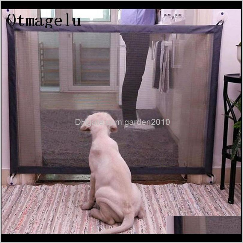 pet dog fences gate folding safety pet isolated network playpen for dog cat baby isolated home door fence cage accessories