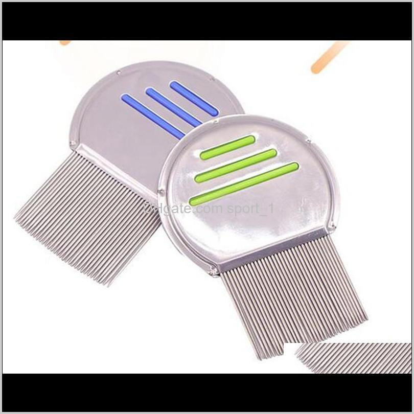 stainless steel kids hair terminator lice comb nit rid headlice super density teeth remove nits comb styling tools