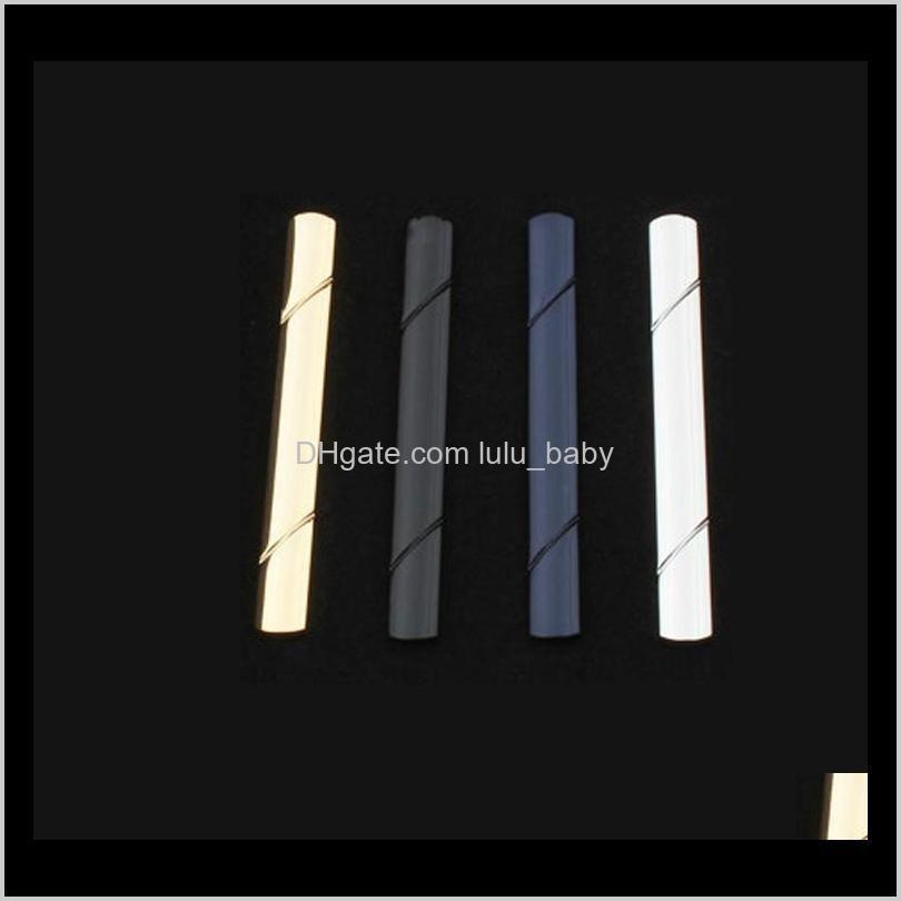 formal men`s copper metal fashion twill stripe clips simple necktie tie bar clasp clip clamp pin for men gift drop ship