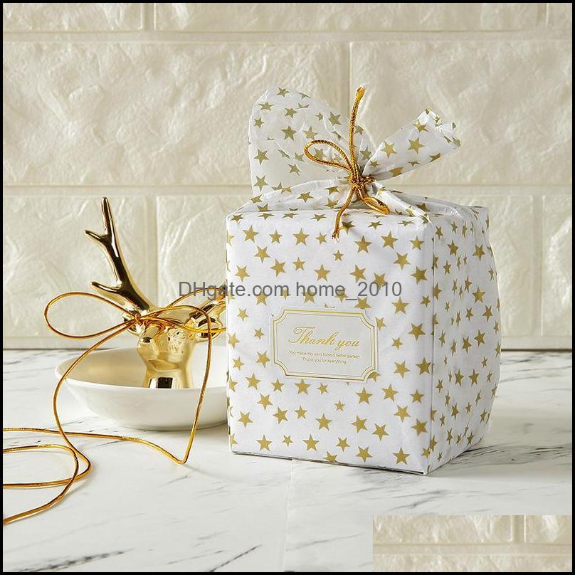 20PCS Gold Print Tissue paper Gift Packing Craft Tissue Paper Wedding Gift Decoration Birthday Party Supplies Home Decoration