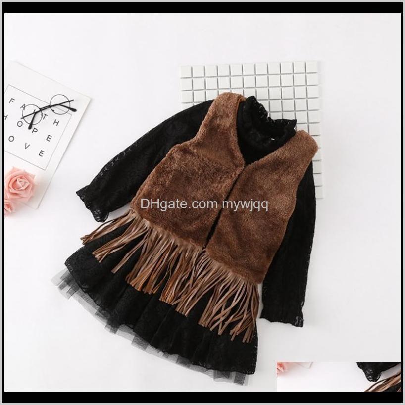 girl waistcoat tassel toddler girls vest jackets fur thicken children coats solid warm kids outwear boutique kids clothing 3 color
