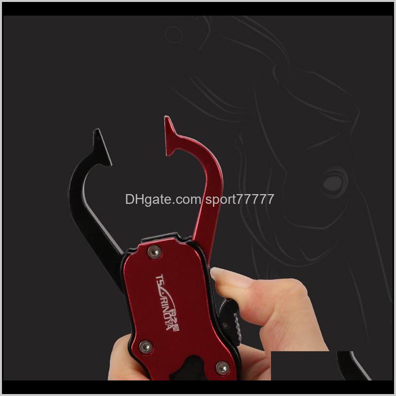 tsurinoya fishing gripper ultralight aluminum fish lip grip 117g 165mm non-slip fish controller fishing tackle tools b1207