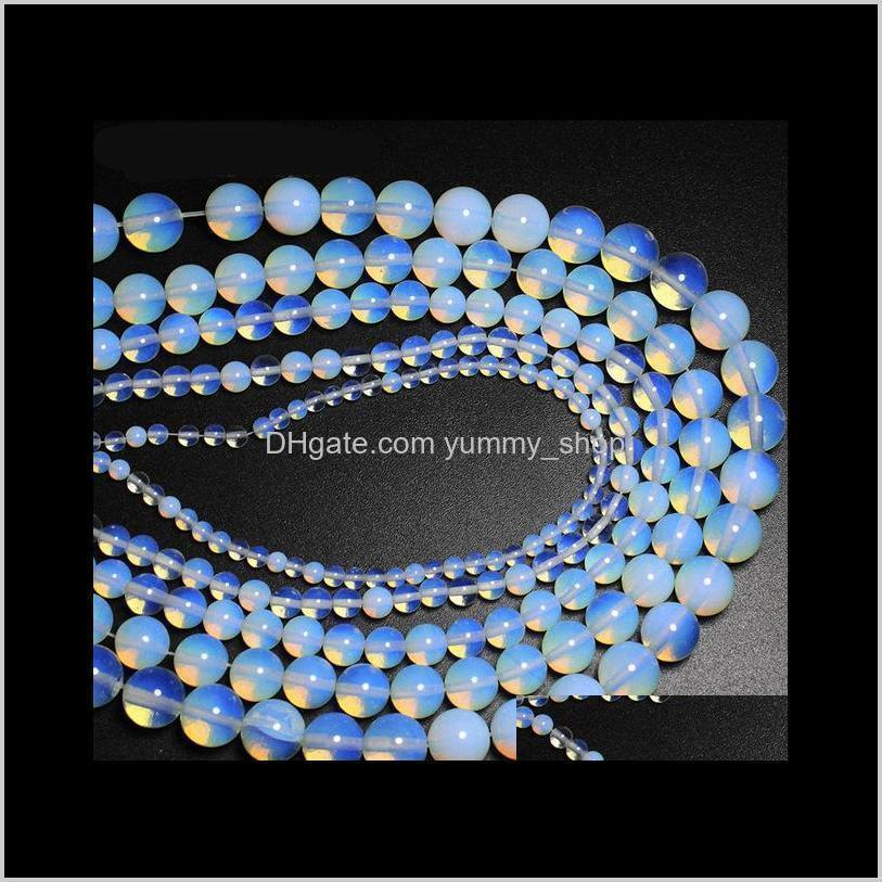 4 6 8 10 12 14mm opal beads loose beads semi-precious natural gemstones diy bracelet necklace jewelry accessories