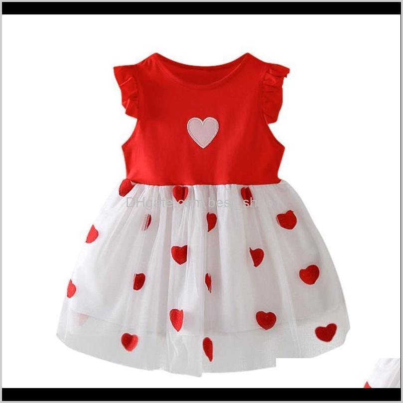 sagace kids dresses for girls summer ruffle love print party princess dress fashion casual sleeveless toddler girls clothing