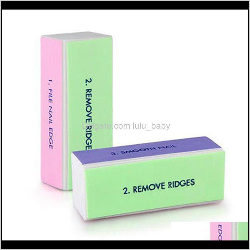 wholesale- 5x nail art manicure 4 way shiner buffer buffing block sanding file fingers beauty accessories