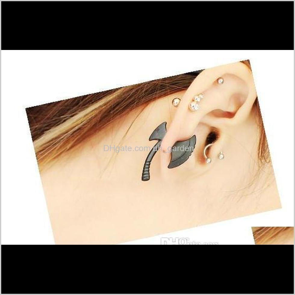 stud earrings charm women`s jewelry gift earing punk cool ax hatchet mens womens stud earring piercing jewelry harajuku 3d axe ear