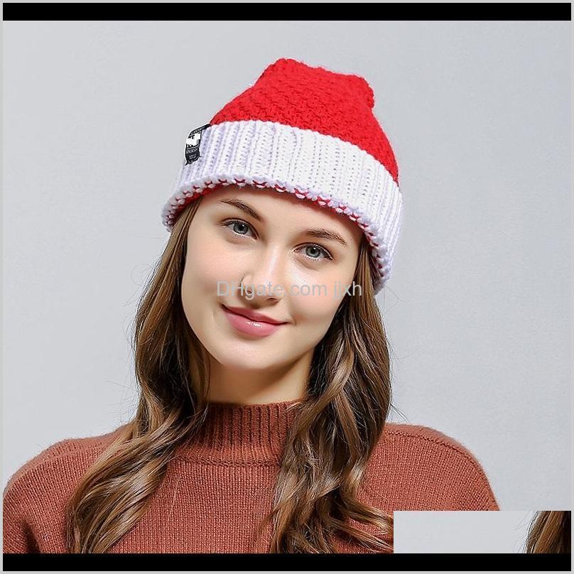 christmas hats knitting santa hat warm winter adults children xmas tree snowflake cap christmas knit hat a332