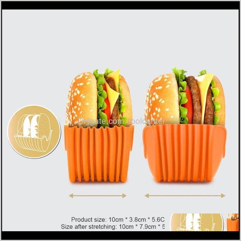 silicone burger holder sandwich clip shell retractable reusable bun rack for household kitchen easy supplies