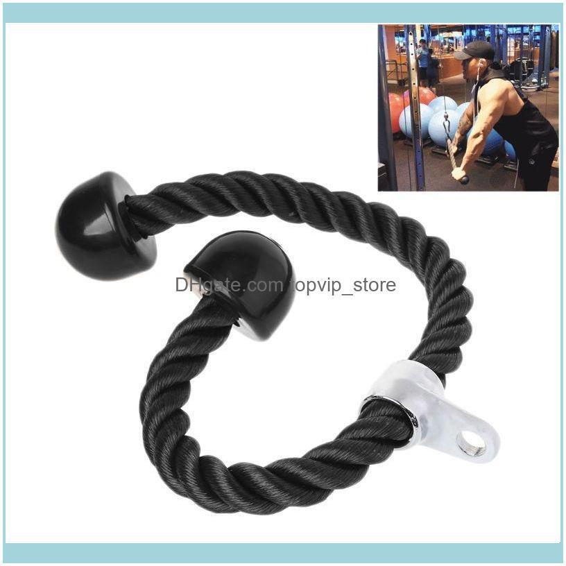 Gym Fitness Equipment Tricep Rope Biceps Strength Training Bodybuilding Exercise K43E Resistance Bands