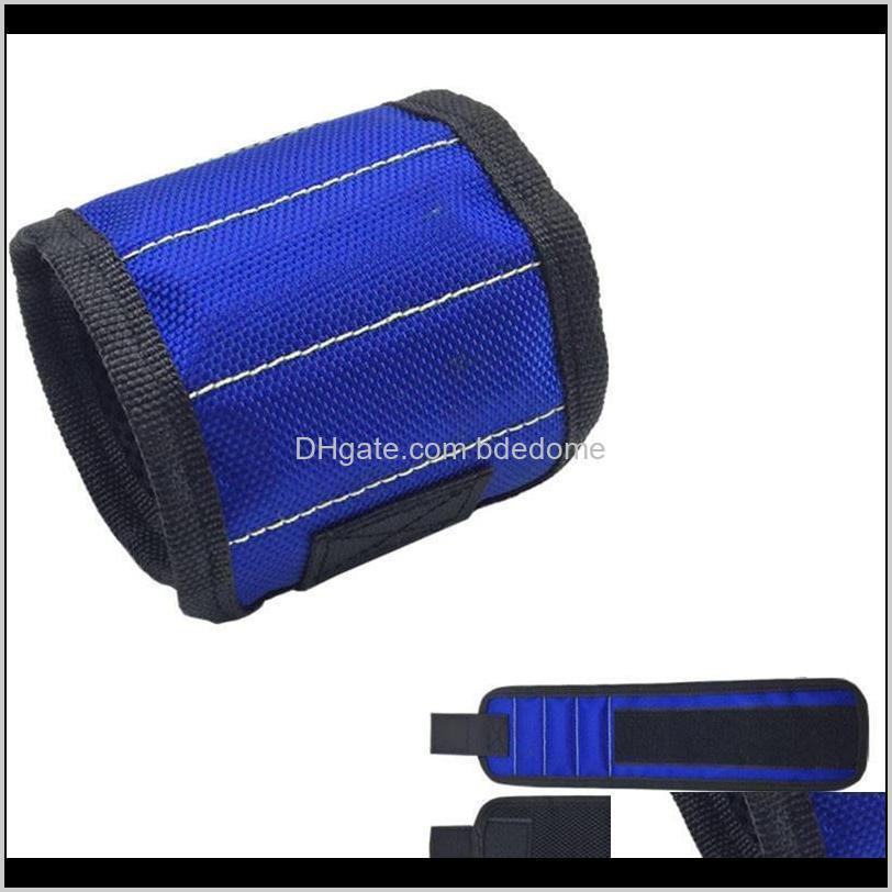 garden supplies magnetic wristband pocket tool belt pouch bag screws holder holding tools practical strong chuck wrist toolkit rh3310