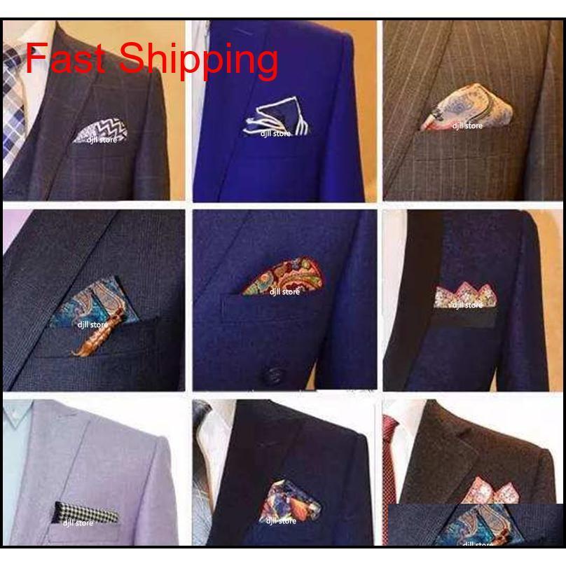 fancy men`s cravat scarf handkerchiefs cotton pocket square hankies men business square pockets hanky handkerchief fashion ties