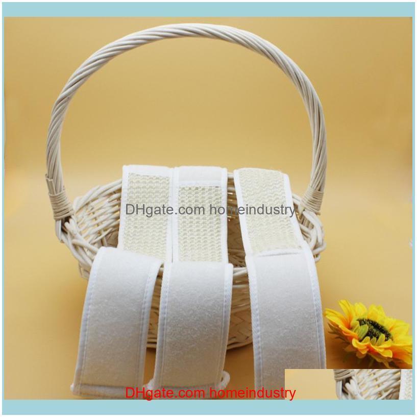 Bath Brushes, Sponges & Scrubbers Natural Loofah Rub Brush Exfoliate Pull Back Strip Belt Chopping Band Towel