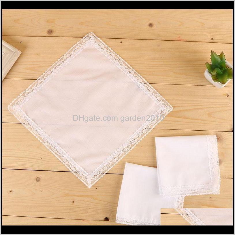 white lace thin handkerchief woman wedding gifts party decoration cloth napkins plain blank diy handkerchief hha2096