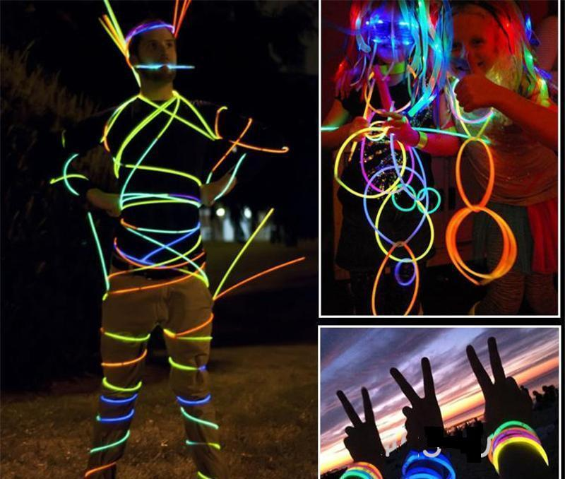 7.8``multi color hot glow stick bracelet necklaces neon party led flashing light stick wand novelty toy led vocal concert led flash