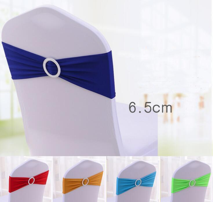elastic organza chair covers sashes band wedding bow tie backs props bowknot spandex chairs sash buckles cover back hostel trim pink 2