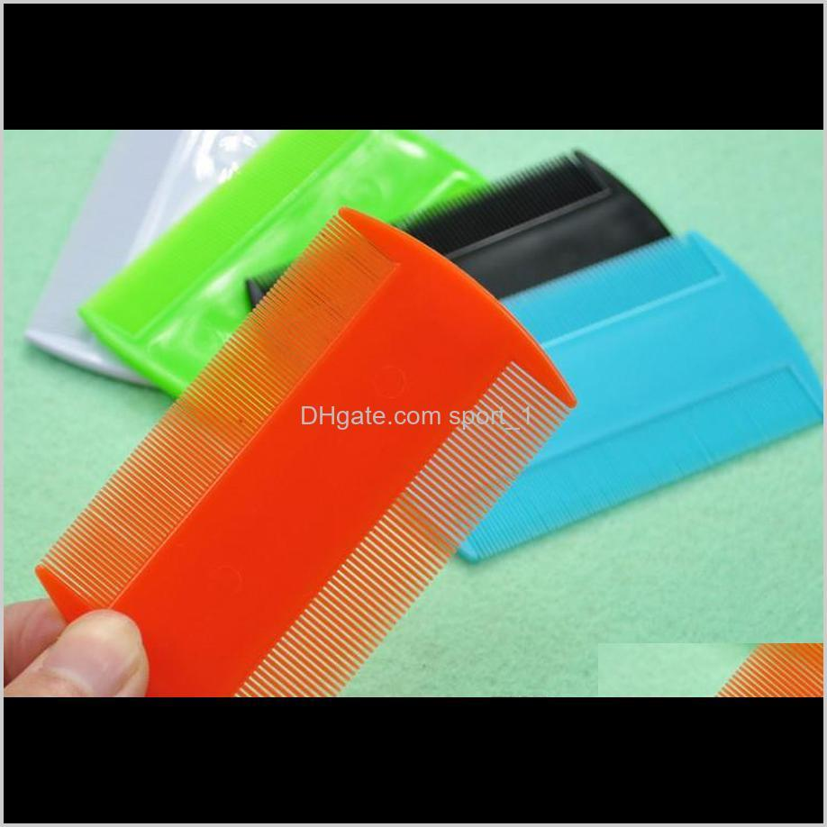 plastic flea lice combs double sided pet flea combs cat dog grooming fine tooth hair combs