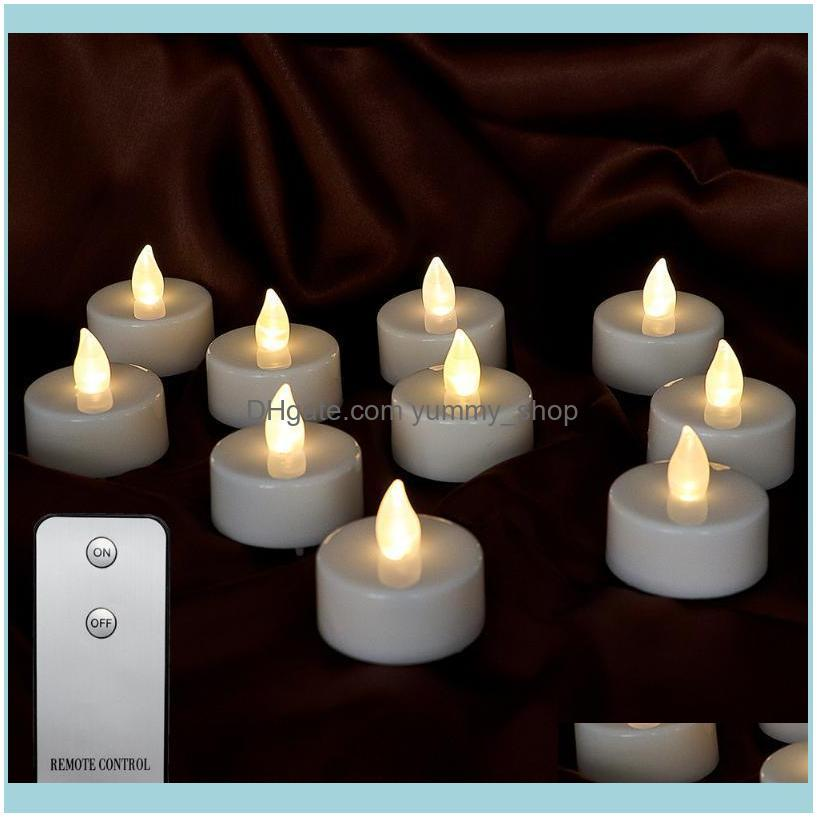 10Pcs Battery Votive Candles With Remote