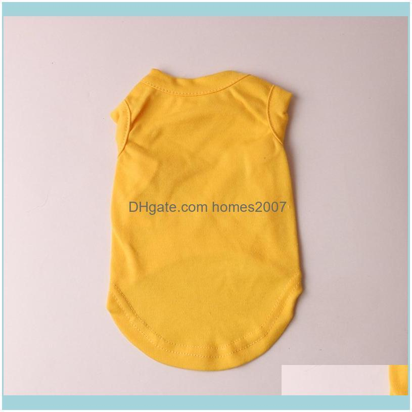 Pet Clothes Puppy Dog Cotton Shirts Solid Color Pet Dog T-shirt Pet Spring Summer T Shirts Dog Sleeveless Animal Cat Clothes BH2512