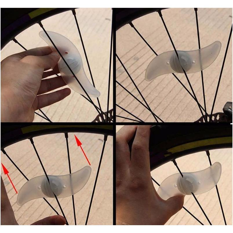 bicycle accessories willow shape led bicycle spoke light mountain cycling lamp light running bike light red blue green