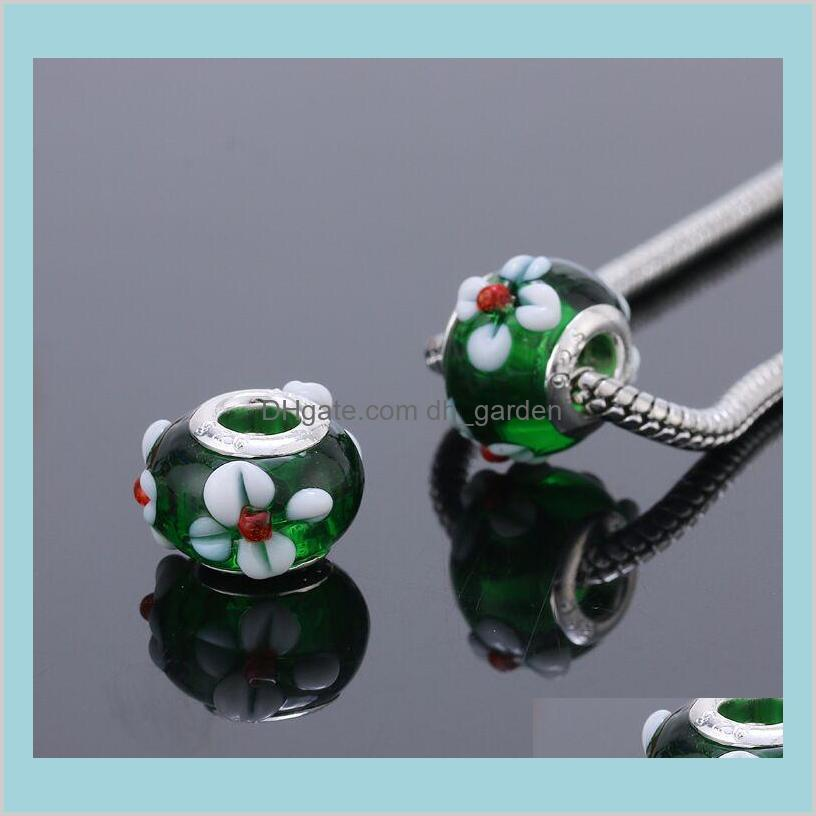 2017 newest fashion glass beads fit european charm pandora jewelry charm bracelets & necklaces