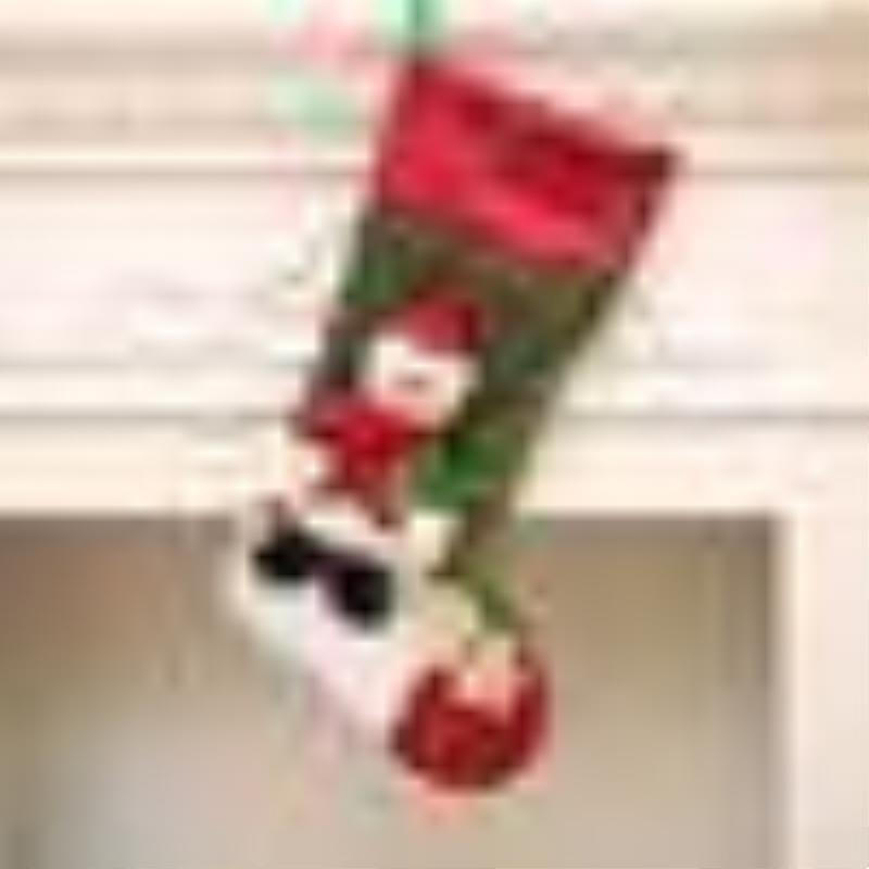 2019 Santa Claus Sock Gift Kids Candy Bag Xmas Noel Home Party Store Decoration Christmas Tree Stockings Hanging Ornaments