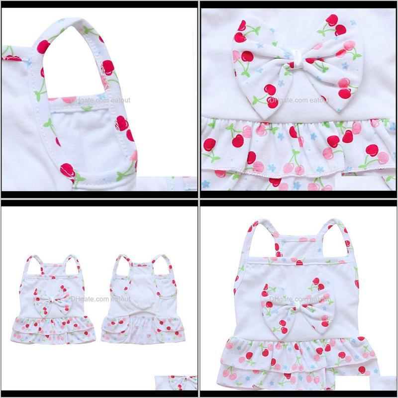Pet Dog Cat Summer Vest Camisole Dress Fruit Swimsuit Clothes Puppy Two-Layers Flouncing Skirt T-shirt for Small Dog1