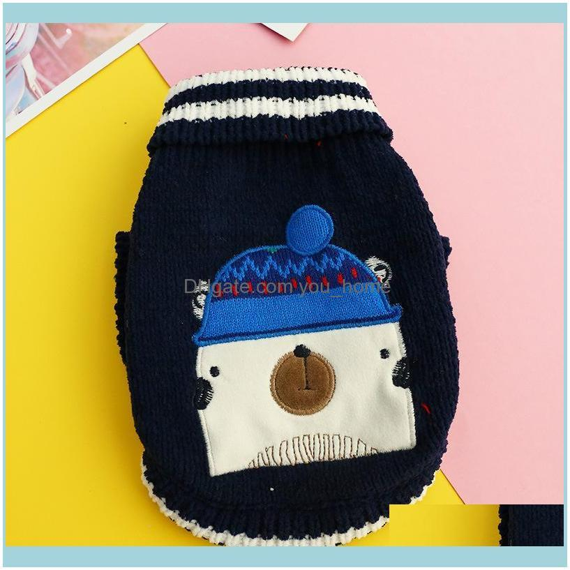 Pet Supplies Warm Sweater Cute Cartoon Pattern Christmas Clothes Small and Medium Pet Clothes Cat and Dog Autumn Winter1