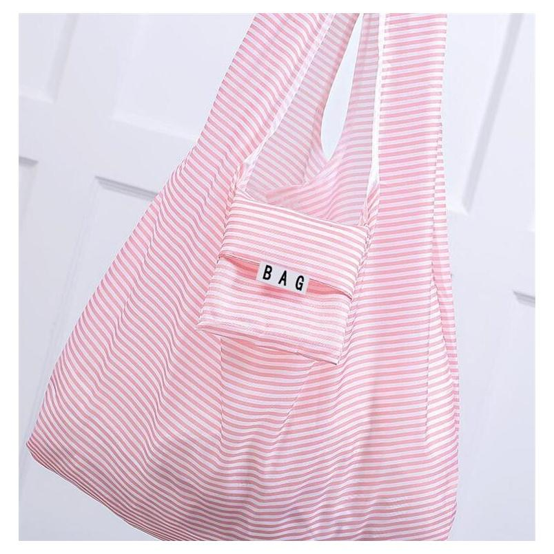 portable foldable shopping bags 9 design large size grocery bag reusable home storage bags shipping tote bags with pouch packaging