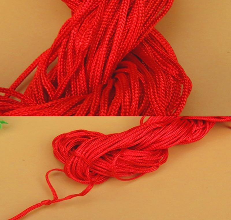 27meters 1mm red waxed cotton cord waxed thread cord string strap necklace rope bead diy jewelry making for shamballa bracelet