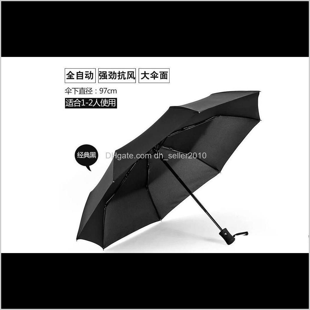 2018 newest hot automatic umbrella windproof mens black compact wide auto open close lightweight