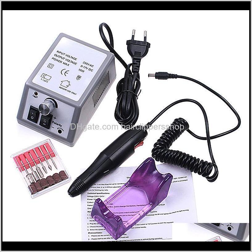 professional electric acrylic nail drill file machine kit bits manicure eu us plug or88