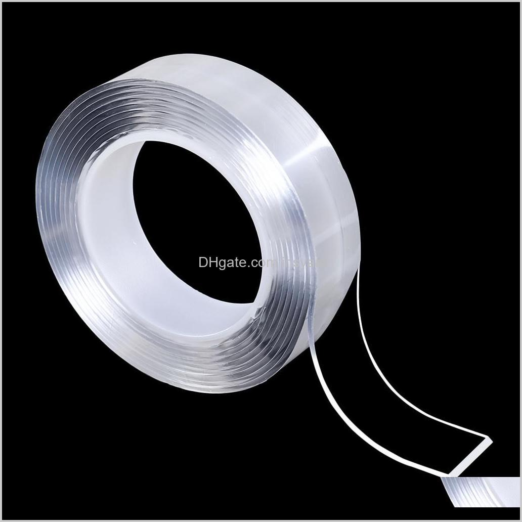 washable adhesive nano tape, to remove & reusable traceless, stick to glass, metal, kitchen cabinets or tile