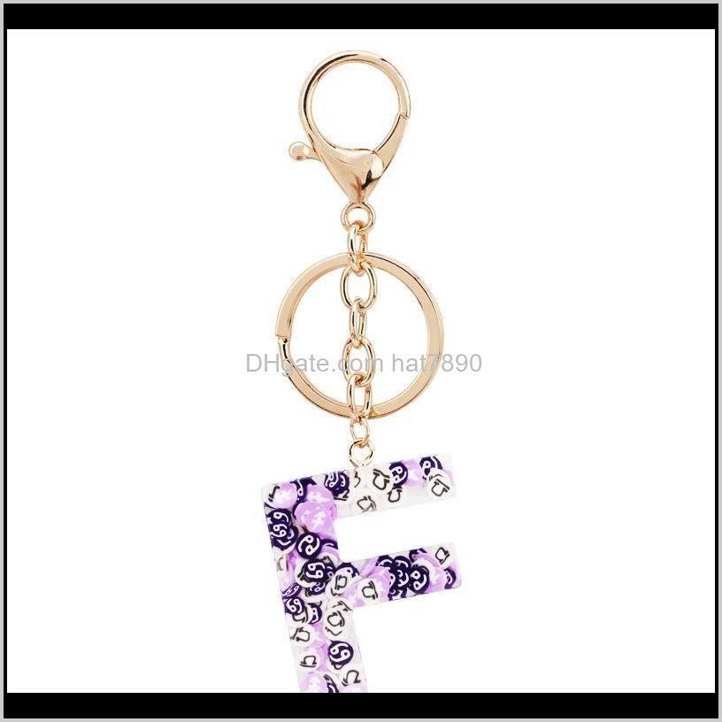 Kimter Fashion Letter A-Z Keychain Creative Colorful 26 English Alphabet Keyring Handbag Keyfobs jewelry Accessories for Women P321FA