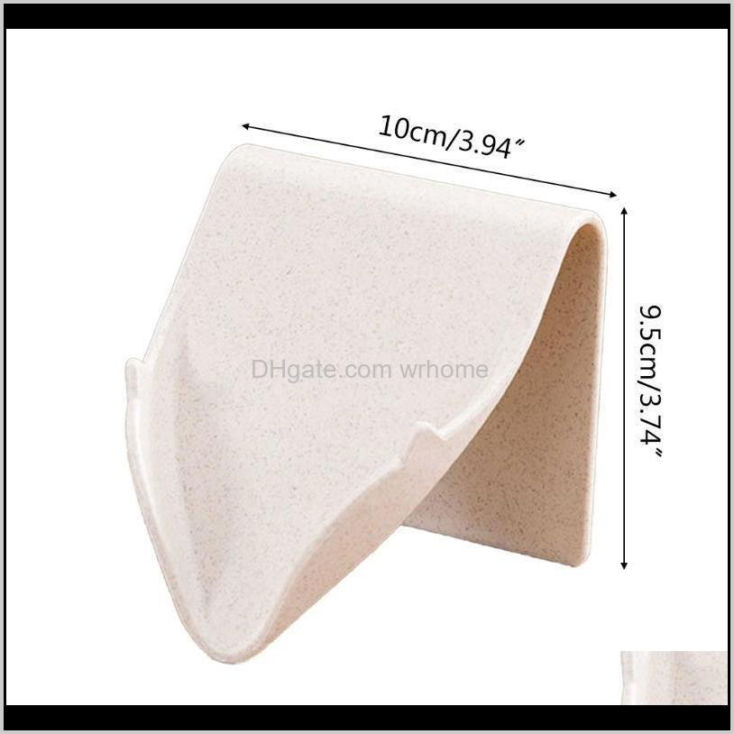 wall mounted soap holder self adhesive dish storage box with drain bathroom shower tray plate no drilling