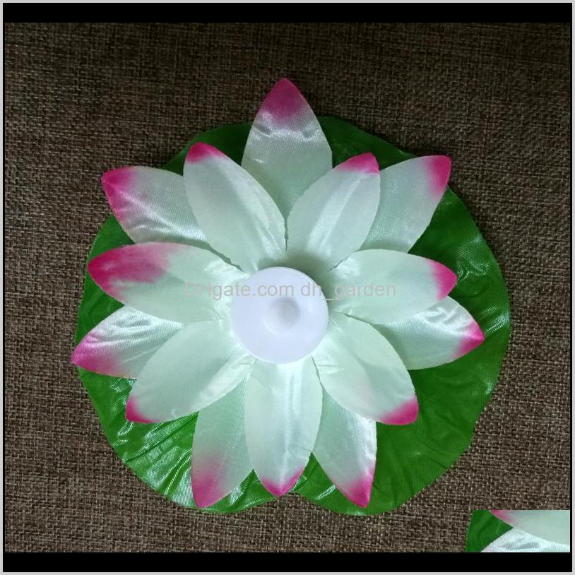 led lotus lamp colorful changed floating water pool wishing light lantern flameless candle lotus flower lamps for party decoration bc
