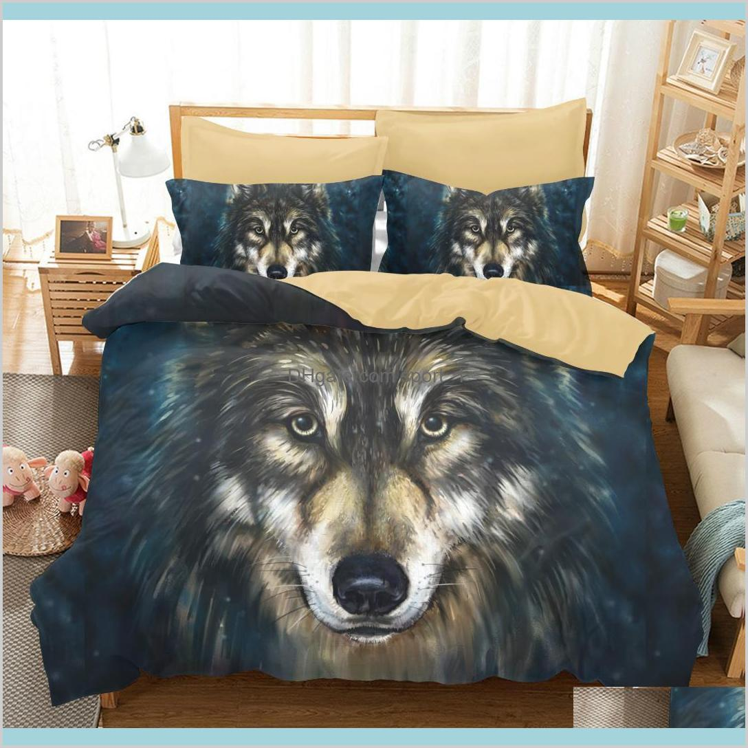 amazing galaxy wolf 3d duvet cover