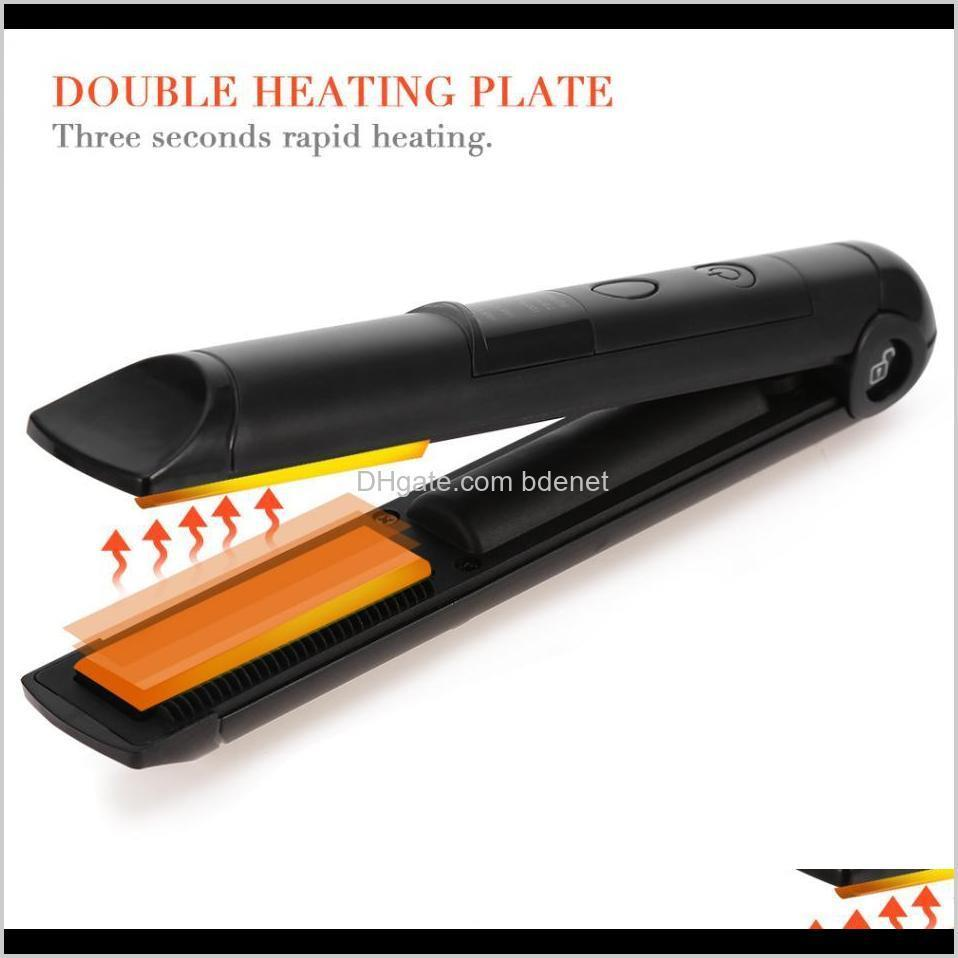 hair straightener flat iron mini rechargeable cordless hair straightener iron care treatment device styling tool new