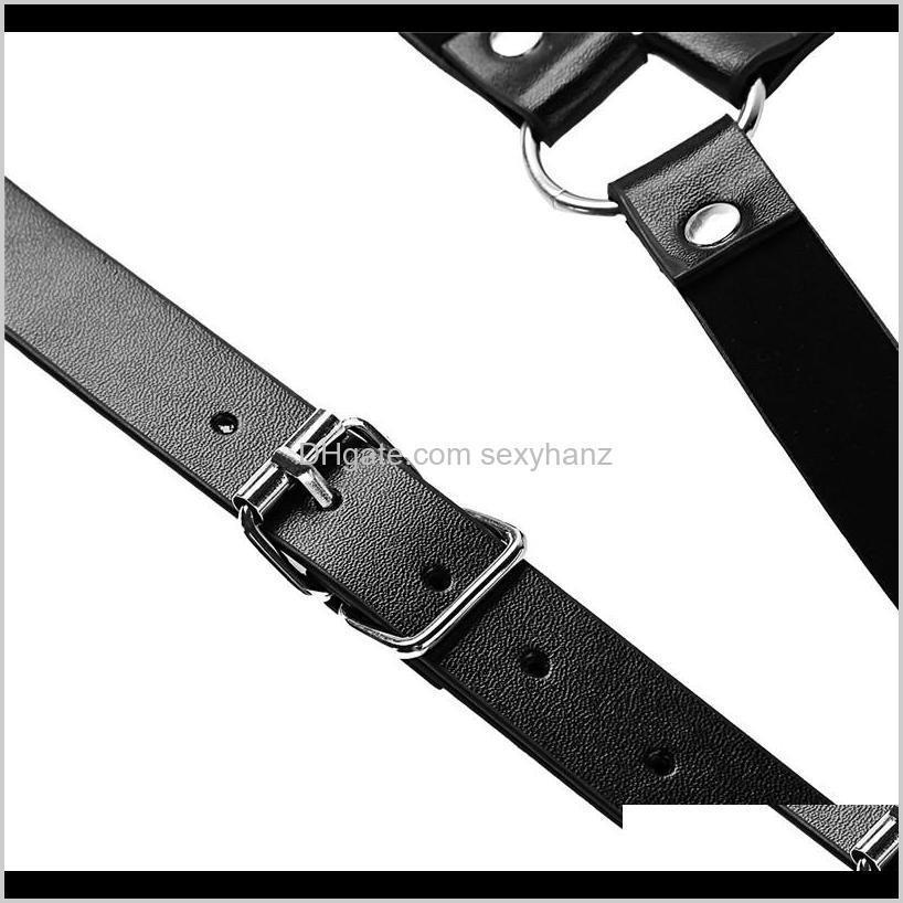 newest men lingerie imitation leather shoulder harness belt punk costume straps body chest harness bondage costume tights zentai