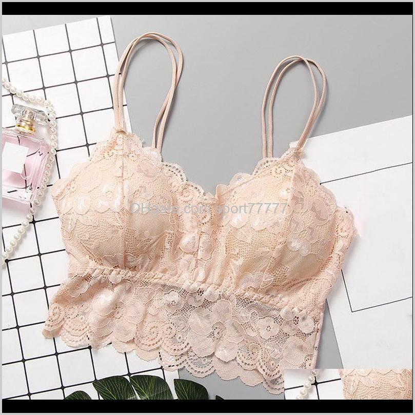 women lace bra female lace strap bandeau top bra tops summer breathable bandeau ldf668