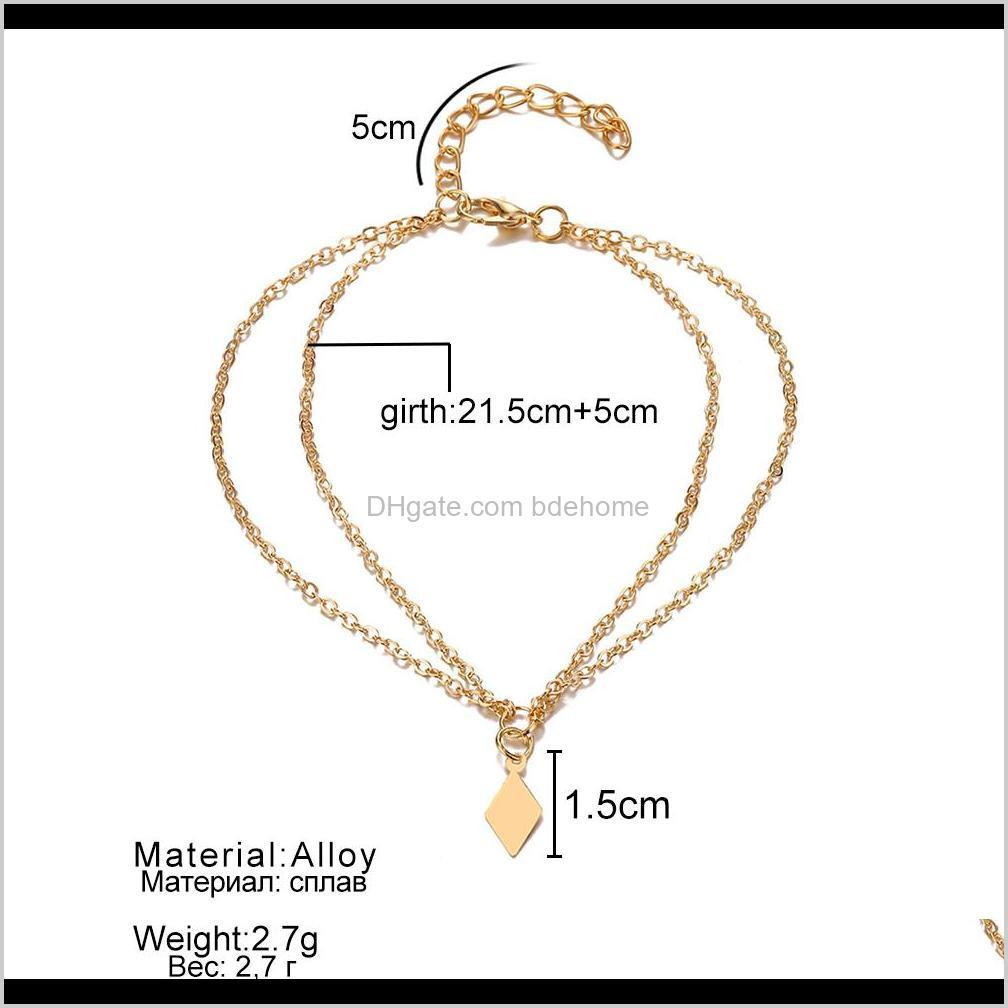 famshin fashion summer beach anklet bohemian jewelry ankle bracelet for women foot jewelry summer barefoot beach anklet new 2019