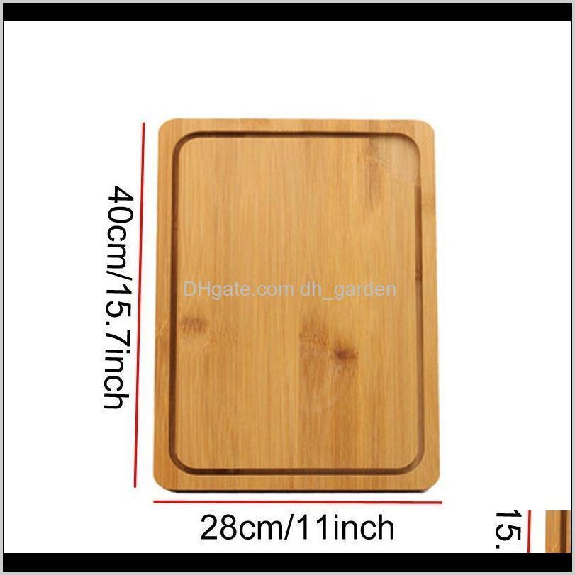 japanese kitchen antibacterial cutting board multifunction bamboo chopping blocks cut bread dessert steak chopping plate bh1296 tqq