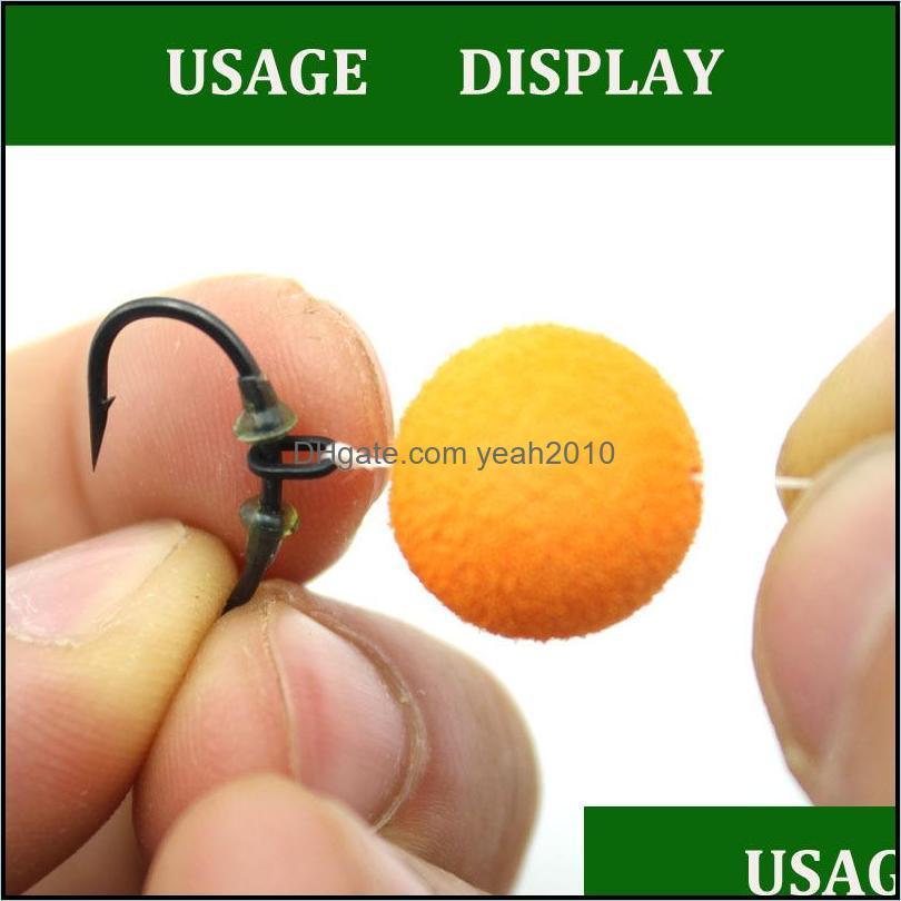 50PCS Carp Fishing Accessory Rig Rings Anti Glare Oval Blow Back Rig Rings Matt Black Terminal Tackle