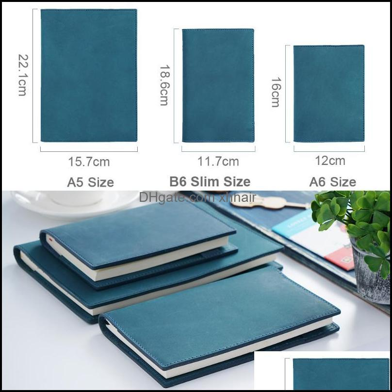 Notepads 100% Genuine Leather Notebook Planner Book Cover A6 A5 B6 Slim For MD Diary Original Journal Drawing Sketchbook