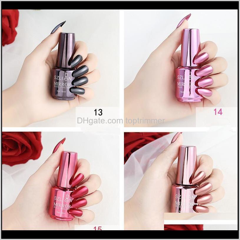 12 colors silver mirror nail polish long lasting metallic nail polish 2020 new water based air dry clear peel off nail polish