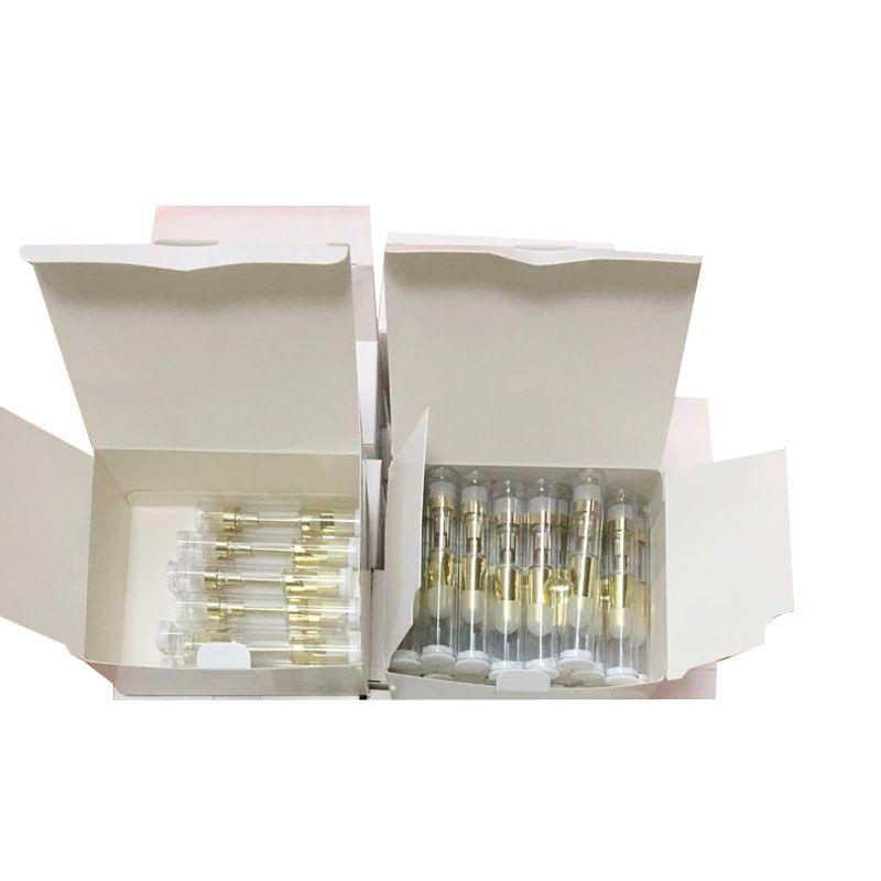 vape 카트리지 1ml 세라믹 코일 510 나사 두꺼운 오일 카트리지 빈 vape 펜 기화기 금속 팁 유리 탱크 ecigs 카트