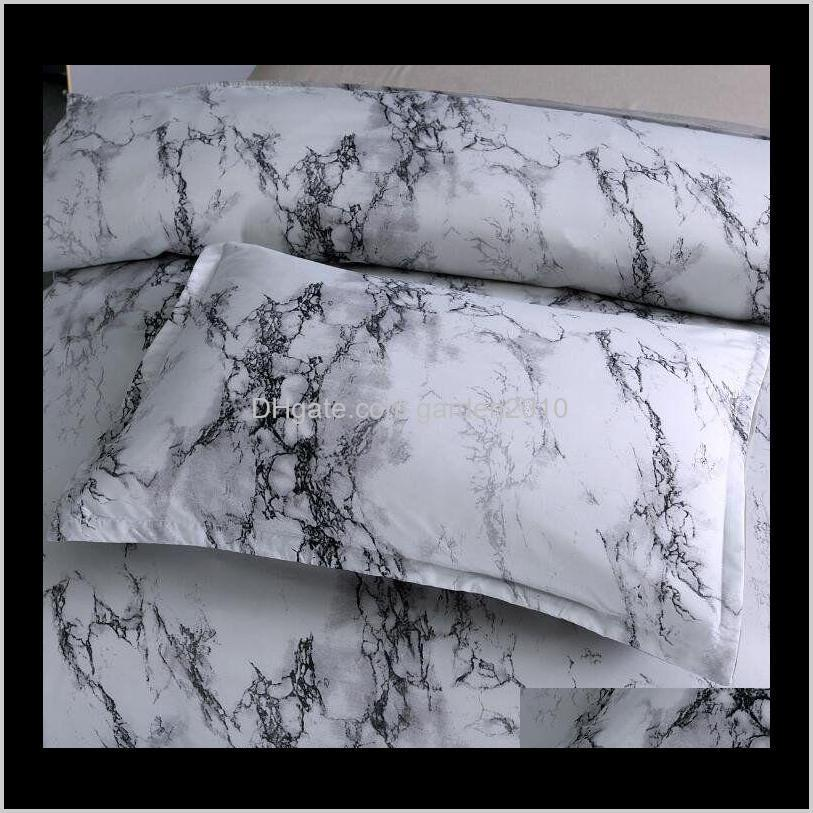 in stock marble pattern bedding stone simple plain quilt cover pillowcase three-piece set without bed sheet