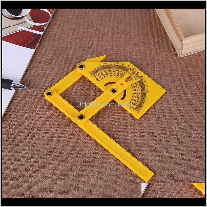 multi-function protractor ruler angle finder folding 180 degree angle template protractor measuring instruments
