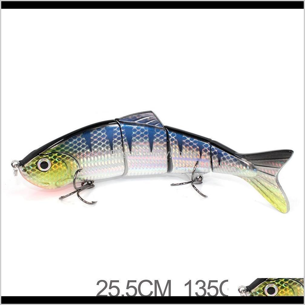 hard fishing baits d4c big size 250mm 145g hard plastic multi jointed swim crankbaitfishinglure 4 sections